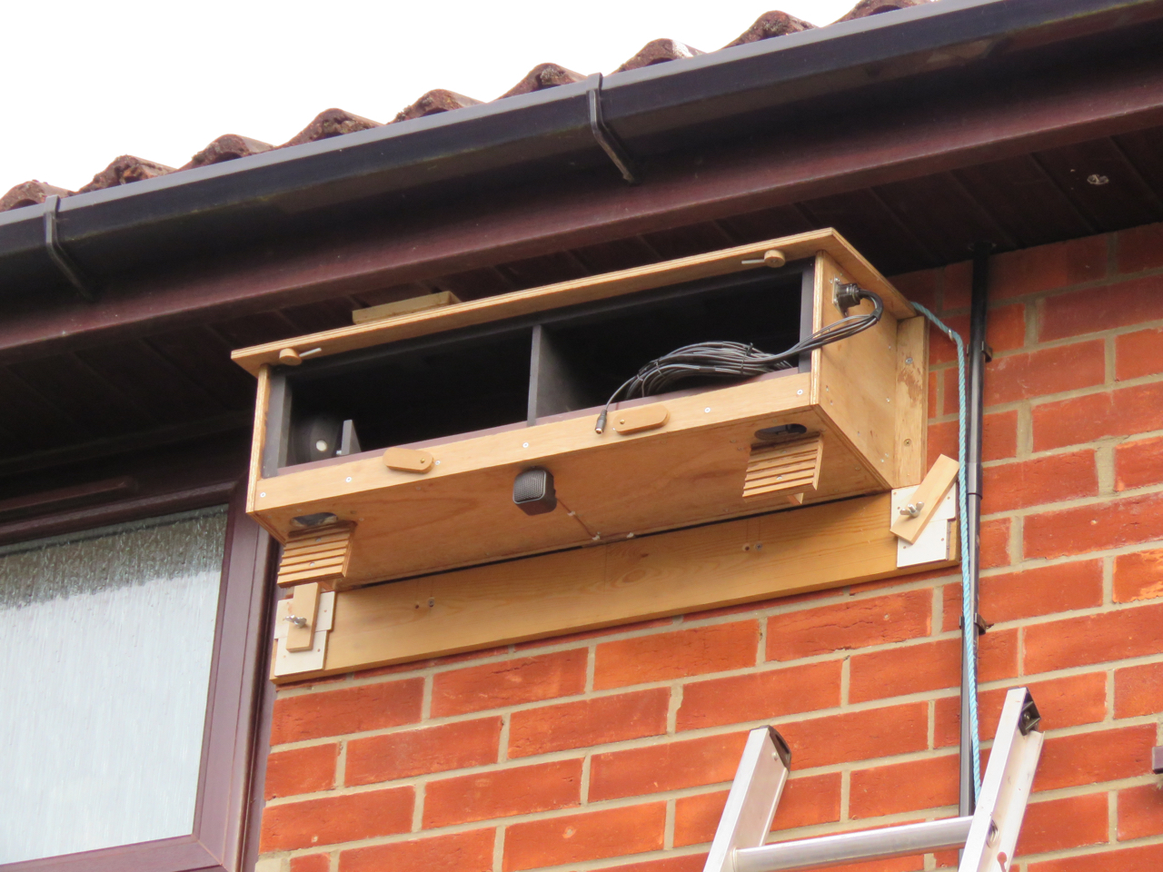 The Swift box in place.