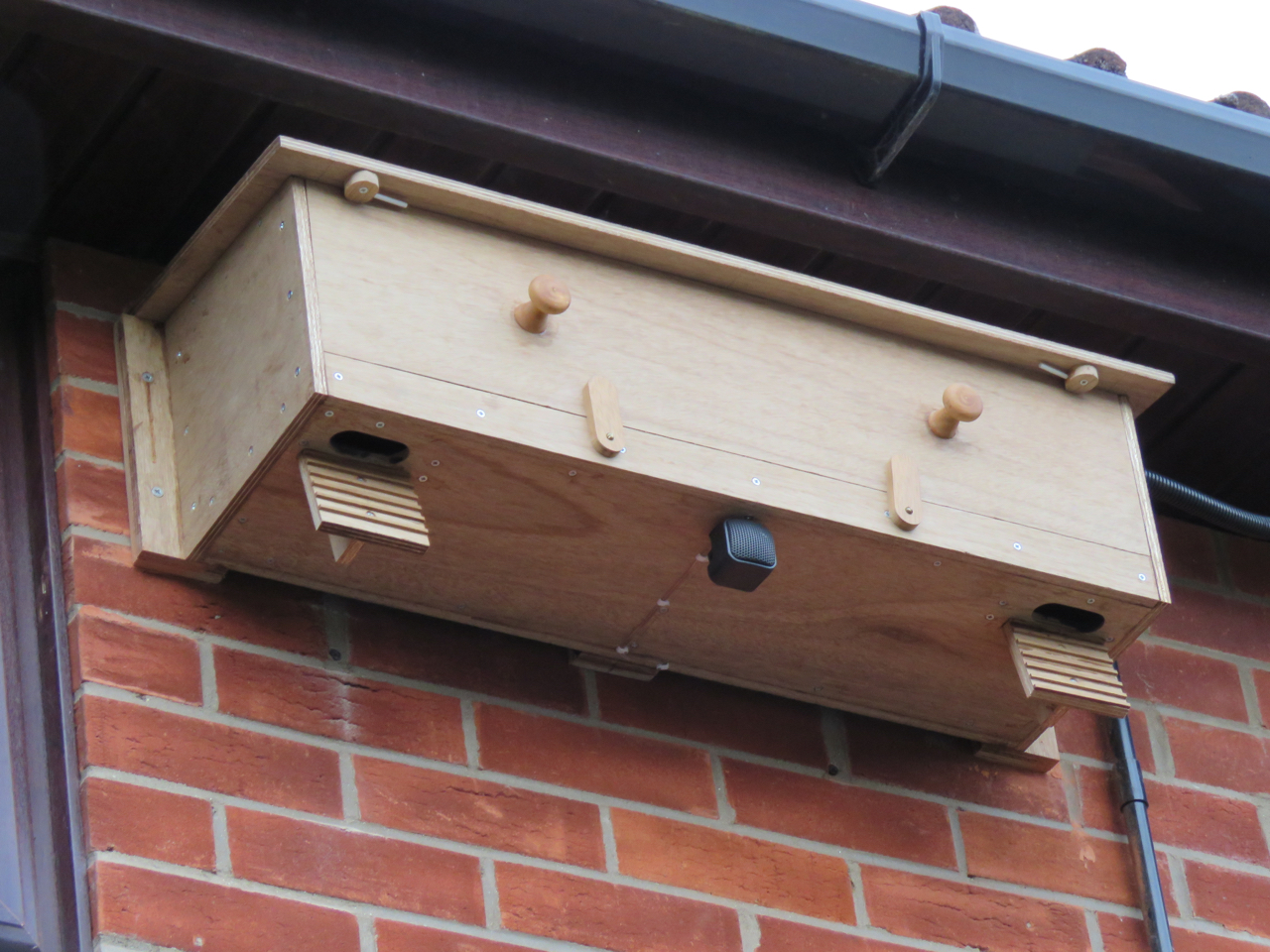 The Swift Nestbox in place.